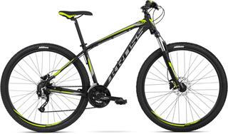 "2018 KROSS 29"" HEXAGON 6.0 vel.19"" - black/graphite/lime matt"