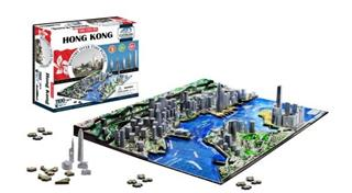 4D PUZZLE Cityscape Time Panorama Hong Kong