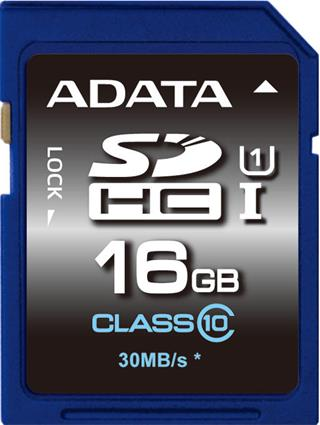 ADATA Secure Digital SDHC 16GB UHS-I Class10