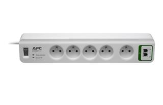APC Essential SurgeArrest 5 outlets with phone protection 230V France - přepěťová ochrana 5 zásuvek 1,8m