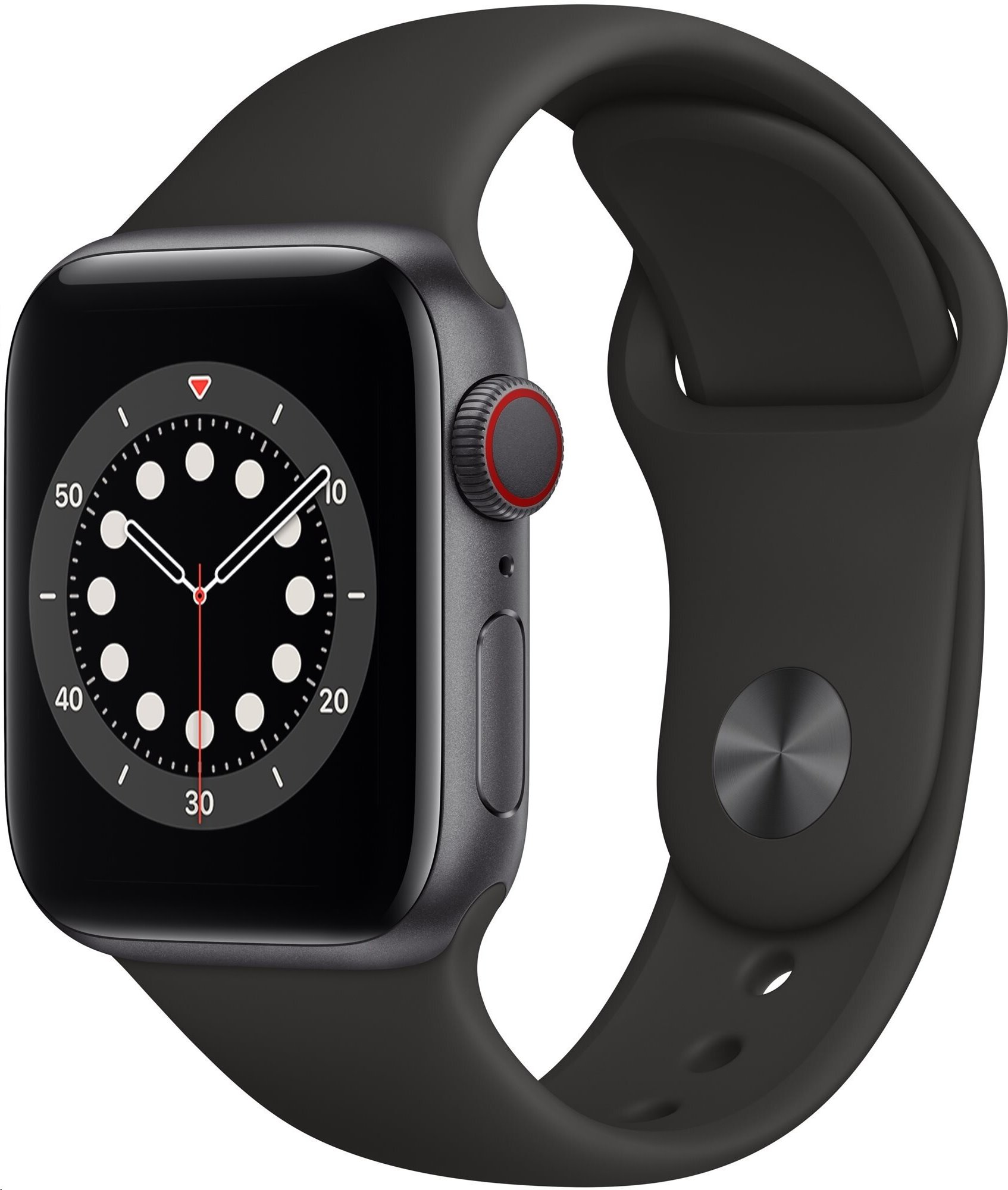 APPLE Watch Series 6 GPS+Cellular,40mm Space Grey Aluminium Case with Black Sport Band