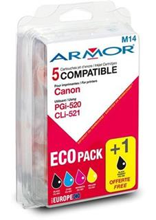 ARMOR cartridge pro CANON iP3600/4600/4700 multipack (PGI520 / CLI521BK / CMY) - alternativní