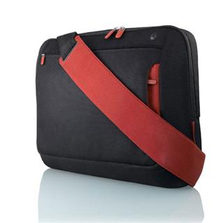 Belkin brašna Neoprene Messenger Bag for Notebook up to 17' černá/červená