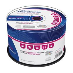 CD-R MediaRange 700MB 52x SPINDL (50pack), printable