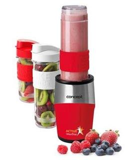 CONCEPT SM-3386 Smoothie maker active smoothie 500W Červená