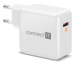 Connect IT InWallz CWC-2010-WH Quick Charge 3.0, 1x USB (3A), bílý