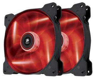 Corsair Air Series SP140 LED Red Twin Pack