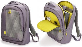 "DICOTA Bounce Backpack 15"" - 16.4"" gray / yellow"