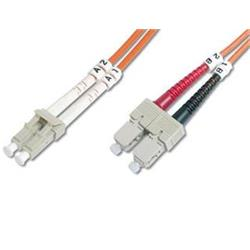 DIGITUS Fiber Optic Patch Cord, LC to SCMultimode 50/125 µ, Duplex Length 1m DK-2532-01