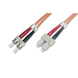 DIGITUS Fiber Optic Patch Cord, LC to STMultimode 50/125 µ, Duplex Length 5m