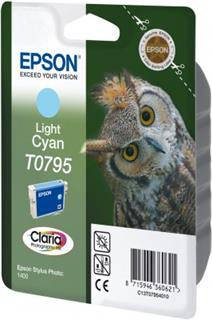 Epson T0795 Light Cyan Claria Photographic Ink 11ml pro Stylus Photo 1400 - originální