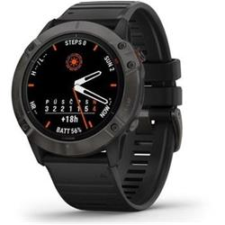 Garmin fenix6X PRO Solar, TitaniumGrayDLC/Black Band (MAP/Music)