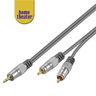 Home Theater HQ Kabel Jack 3,5mm - 2x CINCH, M/M, 5m