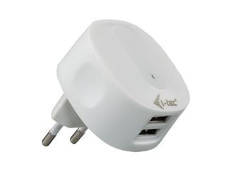i-Tec USB Dual Power AC 230V Charger 2.1A (iPad, i