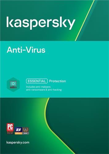 Kaspersky Anti-Virus 2016 CZ, 3 zařízení, 1 rok, nová licence, elektronicky KL1161OCCFS