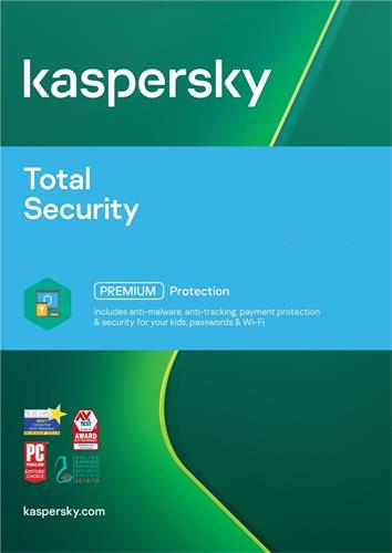 Kaspersky Total Security multi-device CZ, 3 lic., 2 roky, nová licence, elektronicky KL1919XCCDS