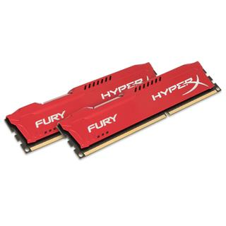 Kingston HyperX Fury 16GB (Kit 2x8GB) 1600MHz DDR3 CL10 Red Series, červený chladič