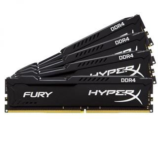 Kingston HyperX Fury DDR4 64GB (Kit 4x16GB) 2400MHz CL15, černý chladič