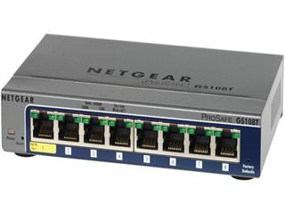 Netgear GS108Tv2, 8 portový 10/100/1000 Gigabit Ethernet Ports Switch, GS108T-200GES, QoS