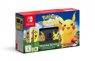Nintendo Switch + hra Pokémon: Let's Go Pikachu + Poké Ball