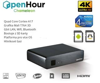 Open Hour Chameleon 4K TV Box Dual OS + Wifi/BT