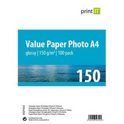 Print IT Value papír Photo A4 150 g/m2 Glossy 100pck/BAL