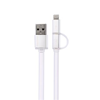 Remax Aurora Apple Lightning + MicroUSB datový kabel USB, bílý