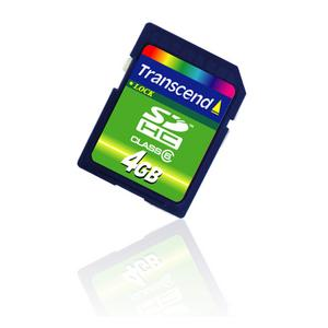 Secure Digital SDHC SD2.0 4GB Class6 TRANSCEND