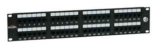 SOLARIX patch panel, CAT6, 48 x RJ45, UTP 350Mhz, černý, 2U