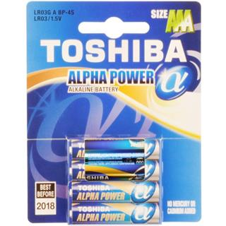 TOSHIBA Baterie ALPHA POWER LR03 4BP AAA