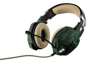 Trust GXT 322C Carus Gaming Headset, zelená kamufláž