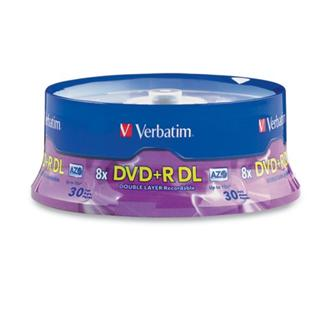 Verbatim DVD+R 8,5 GB 8x Double Layer Printable 25-cake