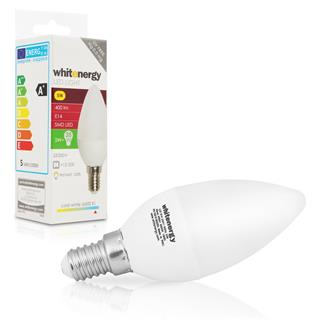 Whitenergy LED E14 C37 5W SMD2835 studená bílá